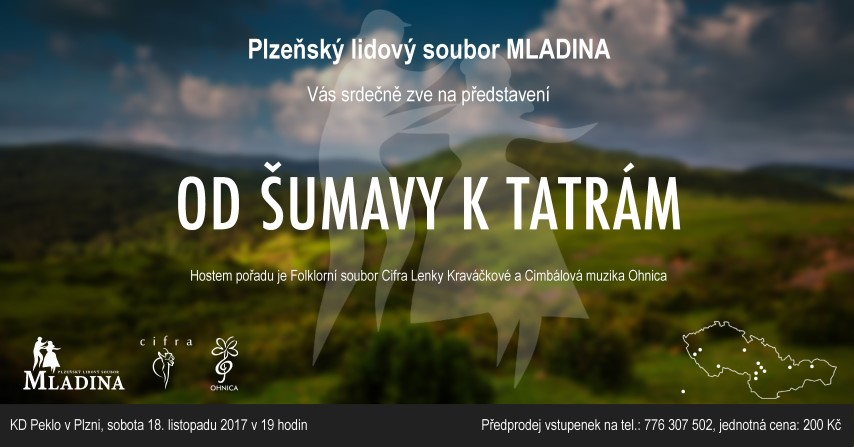 """Pozvánka na vystoupení """"Od Šumavy k Tatrám"""""""